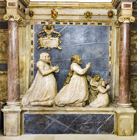 herder: WEIMAR, GERMANY - DEC 19, 2015: sculpture of The Magi also referred to as the Three Wise Men or Three Kings,  in the Gospel of Matthew in Church St. Peter and Paul  in Weimar, Thuringia, Germany. Editorial