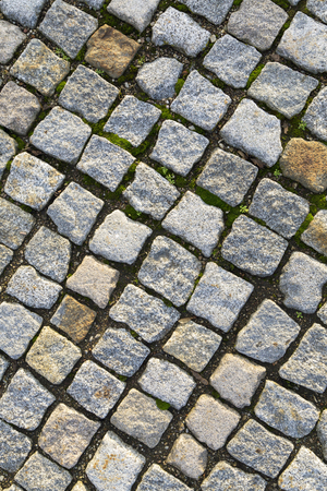 cobble: cobble stones Brick walkways background in red and grey