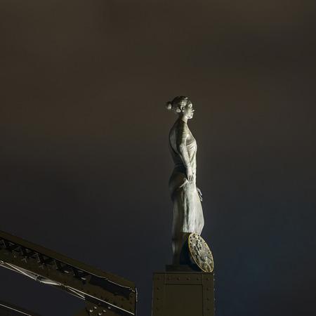 brooks: statue of Europa at the Brooks Bridge of Hamburg