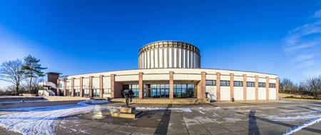 honors: BAD FRANKENHAUSEN - JAN 9, 2016: view of panorama museum in Bad Frankenhausen, Germany. The museum honors the fight of the farmers against the reign in medieval times. Editorial