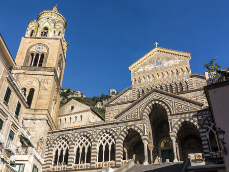Saint Andrew cathedral or Cattedrale di S.Andrea in Amalfi covered with Byzantine mosaics, Amalfi, Sorrentine Peninsula of Italy Stock Photo