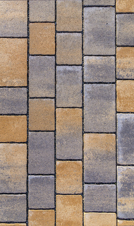 brick: red Paving blocks made of square stone in bright ligh