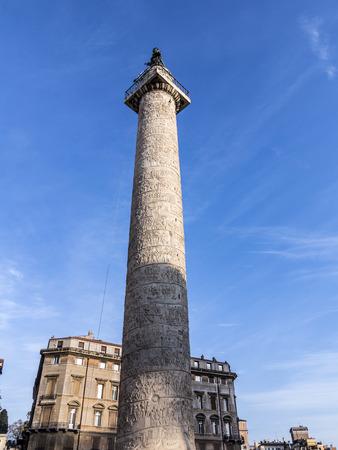 antiquities: Trajans Column , Rome, Italy, Europe