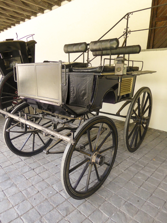 vinery: TALAGANTE, CHILE - JAN 24, 2015: old coaches in winery Vina Undurraga in Talagante, Chile. The foundation was established in 1885 by Don Francisco Undurraga.