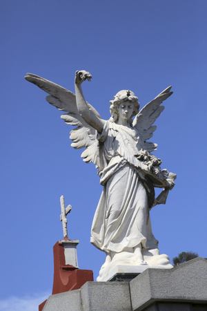 angel cemetery: Angel statue at Recoleta cemetery, Buenos Aires Stock Photo