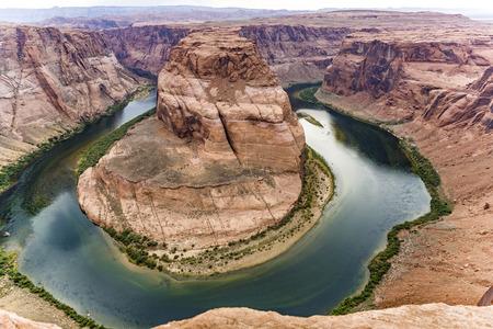 page arizona: romantic horseshoe bend in page, Arizona, river colorado Stock Photo