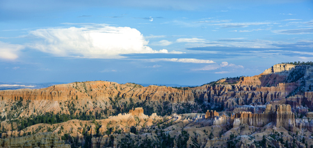 beautiful landscape in Bryce Canyon with magnificent Stone formation in morning sun