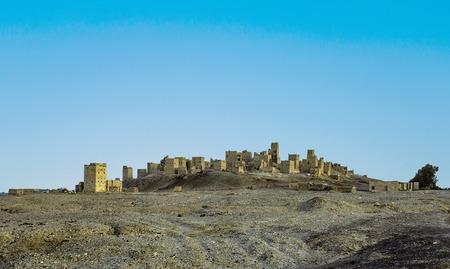 yemen: old ruin of Marib in Yemen Stock Photo