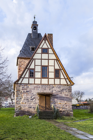 timbered: old half timbered church in Rottleben, Thuringia