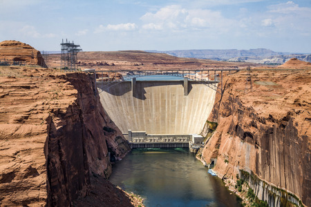 page arizona: Glen Canyon Dam, Page, Arizona, USA Stock Photo