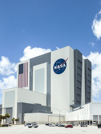 Kennedy: ORLANDO, USA - JULY 25, 2010: The Vehicle Assembly Building at NASA, Kennedy Space Center in Florida, Orlando.