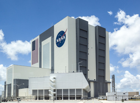 cape canaveral: ORLANDO, USA - JULY 25, 2010: The Vehicle Assembly Building at NASA, Kennedy Space Center in Florida, Orlando.