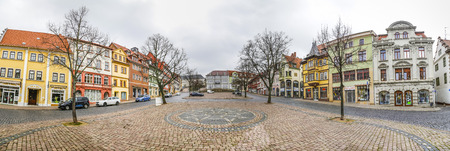 nobility: GOTHA, GERMANY - MAR 25, 2016: scenic view to old town of Gotha in Thuringia, Germany. Gotha is the mother town of most european nobility families. Editorial