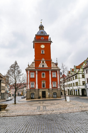 old town hall: scenic view to old town hall of Gotha in Thuringia, Germany