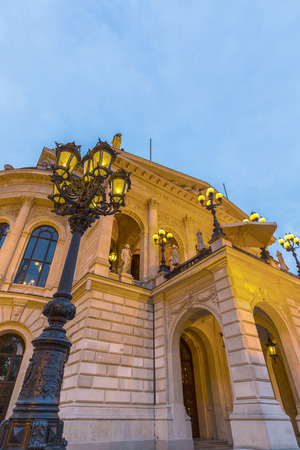 oper: The illuminated Old Opera, Alte Oper, in Frankfurt, Germany by night Editorial