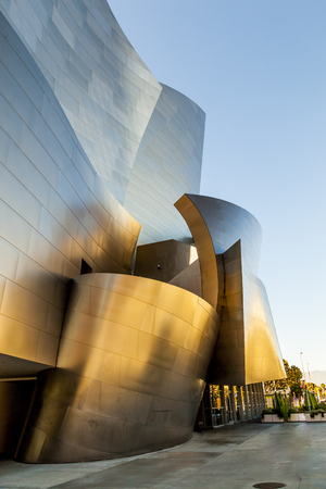 LOS ANGELES, USA - JULY 27, 2012: The Walt Disney Concert Hall in LA. The building was designed by Frank Gehry and opened in 2003.