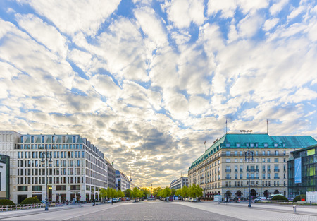 den: BERLIN, GERMANY - MAY 3, 2015: Hotel Adlon Kempinski in Unter den Linden street, Berlin. Famous hotel originally opened in 1907.