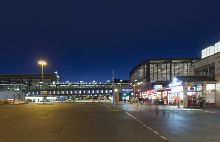 garten: BERLIN, GERMANY- MAY 2, 2015: Berlin Zoologischer Garten railway station. The main train station in West Berlin during the Cold War, in Berlin, Germany
