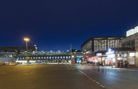 cold war: BERLIN, GERMANY- MAY 2, 2015: Berlin Zoologischer Garten railway station. The main train station in West Berlin during the Cold War, in Berlin, Germany