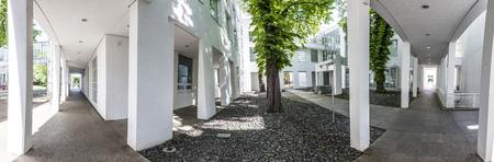 applied: FRANKFURT, GERMANY - MAY 7, 2016: Museum of Applied Art  in Frankfurt at schaumainkai area.