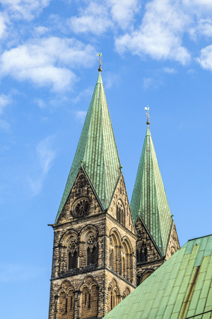 tower of St. Petri dome in Bremen, Germany