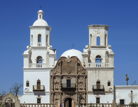 tucson: the san xavier del bac mission in tucson arizona Stock Photo