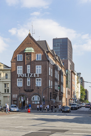 reeperbahn: HAMBURG, GERMANY - JULY 25, 2012: famous police station Davidswache at the Reeperbahn in Hamburg, Germany. The Davidwache was founded 1840. Editorial