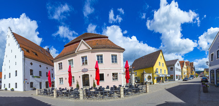 mentioned: BEILNGRIES, GERMANY - MAY 30, 2016: famous old buildings in Beilngries. It is a town in the district of Eichstätt, in Bavaria, Germany. It was first mentioned in 1007 as Bilingriez.