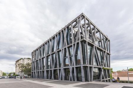 AIX EN PROVENCE, FRANCE - JUNE 2, 2016: famous pavillon de noir in Aix en Provence. The building designed by Rudy Ricciotti won the grand national prize for architecture in 2006.