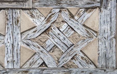 timbered: pattern of old wood of a half timbered house