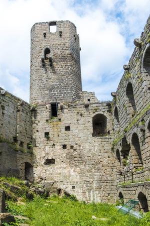 andlau: famous chateau de haut-Andlau in Alsace, France