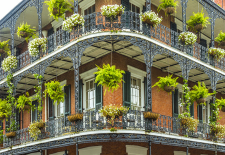 old historic New Orleans houses in french Quarter