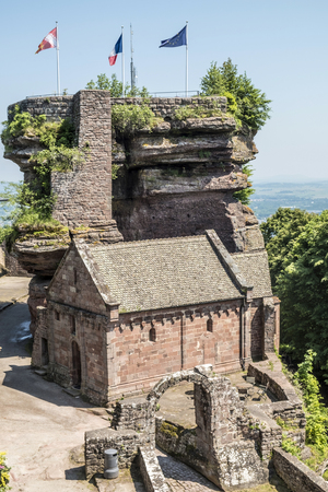 alsace: famous haute-barr castle in Alsace, Saverne, France