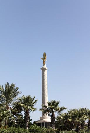 seconda guerra mondiale: Valletta, Malta - 24 SETTEMBRE 2012: The Malta Memorial dedicato al Secondo Regno Guerra Mondiale equipaggi che hanno perso la vita nelle battaglie aeree