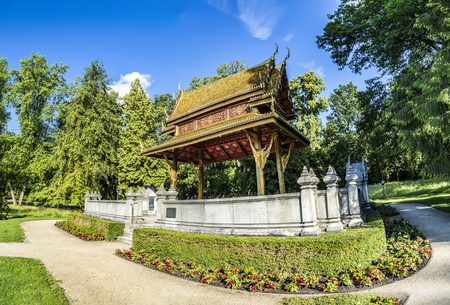 salo: the Thai salo temple in park of Bad Homburg, Germany