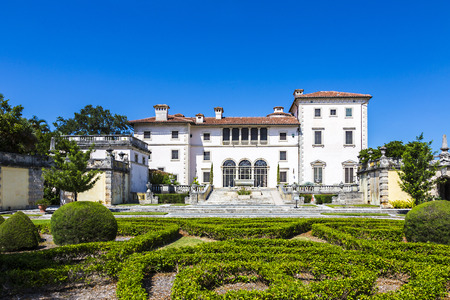vizcaya: MIAMI, USA - AUG 24, 2014: Vizcaya, Floridas grandest residence, once belongs to millionaire industrialist James Deering, is in downtown Miami, Florida, USA. Editorial