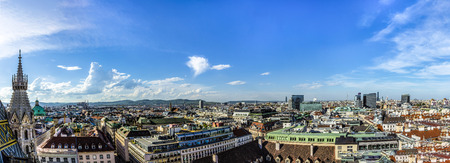 housetop: View of Vienna city from the Stephansdom roof, Austria Stock Photo