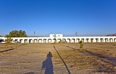 historic sites: DEATH VALLEY JUNCTION, USA - JULY 19: Amargosa Opera House and Hotel , an old Borax Mining spot at the entrance of the Death valley on July 19, 2008 in Death valley Junction, USA. The town is on the national register of historic sites.