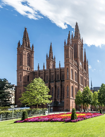 protestant: Marktkirche in Wiesbaden, Germany. The main Protestant church Stock Photo