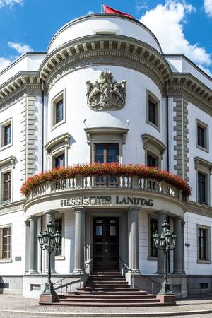 hessen: house of politics, the Hessischer Landtag in Wiesbaden