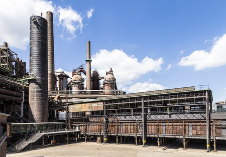 ironworks: old Volklingen Ironworks plant in Voelklingen, Germany