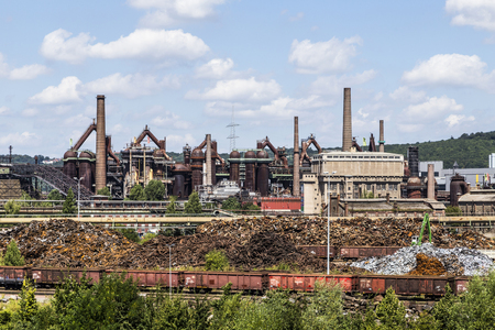 ironworks: Panorama of Volklingen Ironworks in Saar, Germany