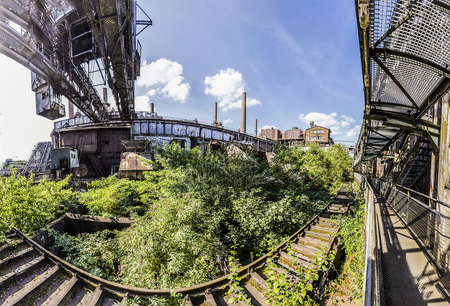 ironworks: Panorama of Volklingen Ironworks in Saar, Germany