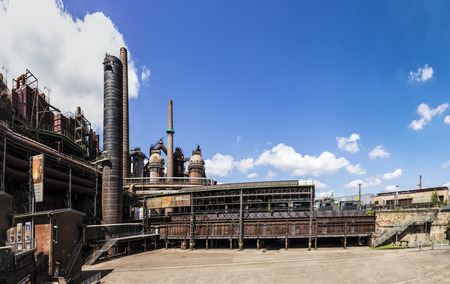 tourisms: Panorama of Volklingen Ironworks in Saar, Germany