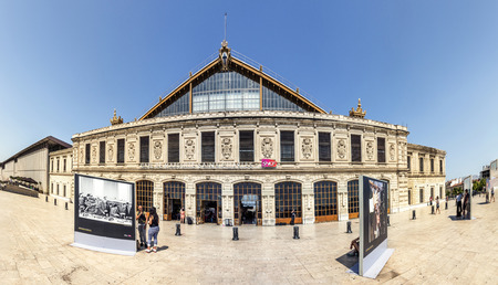 france station: MARSEILLE, FRANCE, JULY 10, 2015: View of Saint Charles train station. Station opened in 1848