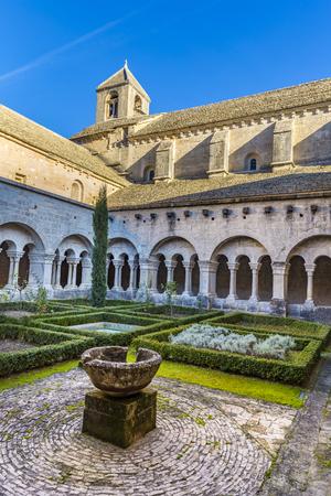 GORDES, FRANCE - DEC 10, 2015: Back of the Senenque Abbey.