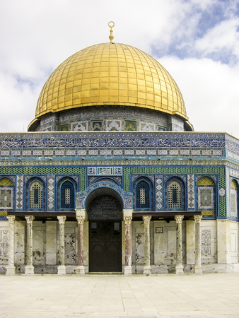 Dome of the Rock. The most known mosque in Jerusalem. Temple Mount is the sacred place for Muslims and Jewish. Open for tourists.