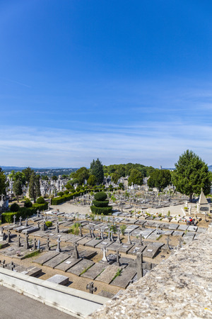 lyon: LYON, FRANCE - SEP 2, 2016: Cemetery of Loyasse on the Fourviere hill Lyon, France. It is the cemetery for richer people. Editorial