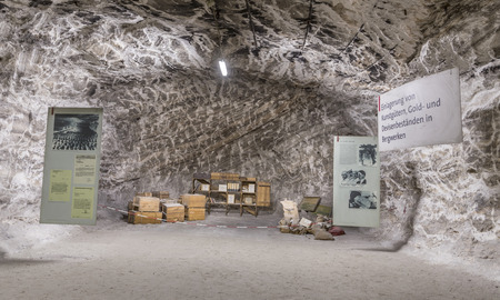 pitman: SONDERSHAUSEN, GERMANY - SEP 18, 2016: people visit the museum war in mining plant Sondershausen in Germany. Reopened as a tourist mine in 1996 and reopened as a halite producing mine in 2006.