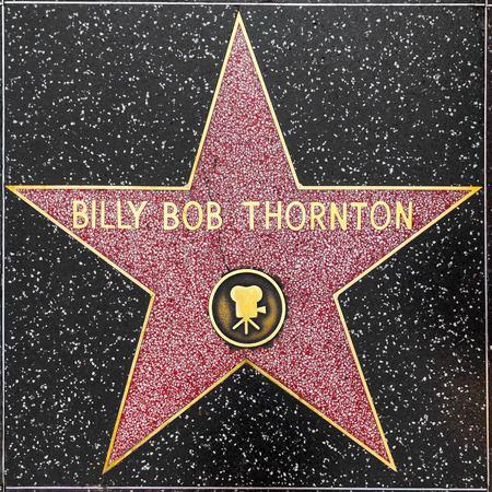 LOS ANGELES, USA - JUNE 24, 2012:  Billy ob thorntons star on Hollywood Walk of Fame  in Hollywood, California. This star is located on Hollywood Blvd. and is one of 2400 celebrity stars.